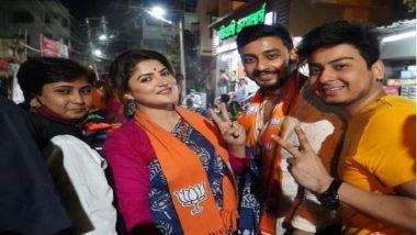 West Bengal Assembly Election 2021 : প্রচারে বাধা দেওয়ার অভিযোগ, থানায় বিক্ষোভ শ্রাবন্তী চট্টোপাধ্যায়ের