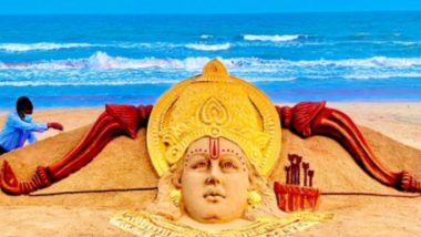 Sudarsan Pattnaik: রামনবমীতে সুদর্শন পট্টনায়েকের বালুচিত্র
