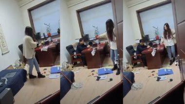 China : অশ্লীল মেসেজ পাঠিয়ে উত্যক্ত, বসকে পেটালেন মহিলা কর্মী, ভাইরাল ভিডিয়ো