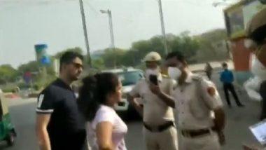 Delhi couple abuses cops : চুমু খাবেন, মাস্ক পরবেন না, পুলিশকে আক্রমণ দম্পতির, ভাইরাল ভিডিয়ো