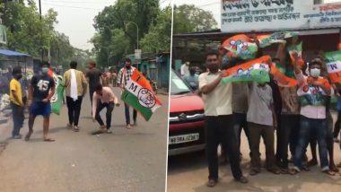 West Bengal Assembly Election 2021: জয়ের হাওয়া তৃণমূলের দিকে, রাস্তায় নেমে উচ্ছ্বাস কর্মী, সমর্থকদের