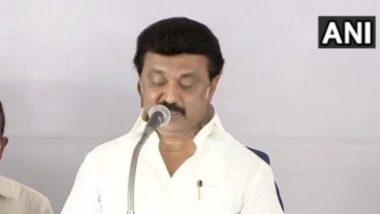 MK Stalin takes oath: তামিলনাড়ুর মুখ্যমন্ত্রী পদে শপথ নিলেন এমকে স্ট্যালিন