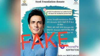 Sonu Sood Busts A Fake Donation Post: তাঁর নামে অনুদান সংগ্রহ করছে ভুয়ো সংস্থা! চোর ধরলেন সোনু সুদ