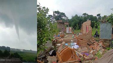 After Yaas, Tornado In Ashoknagar: অশোকনগরে 'টর্নেডো', ভেঙে চুরমার বাড়িঘর, দেখুন