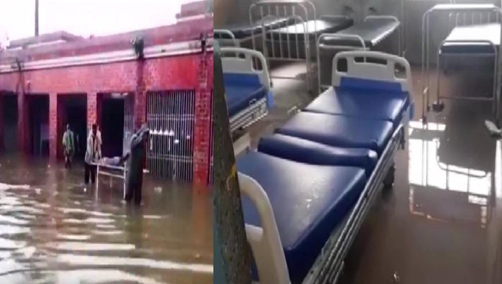 Bihar: এক নাগাড়ে বৃষ্টি, জলে ভাসছে ওষুধ, জরুরি বিভাগ-সহ গোটা হাসপাতাল