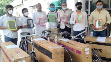 Protest on Fuel Price Hike: নরেন্দ্র মোদি, অমিত শাহকে সাইকেল পাঠালেন যুব কংগ্রেসের নেতারা