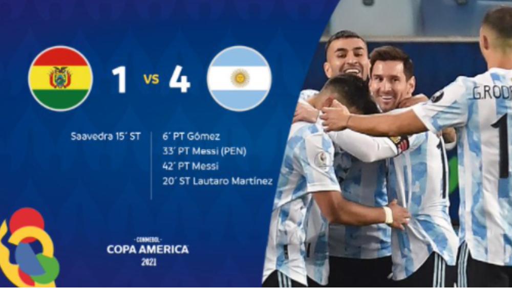 Copa America 2021: কোপায় মেসি ম্যাজিক, ৪-১ গোলে বলিভিয়া বধের পর কোয়ার্টার ফাইনালে আর্জেন্টিনা