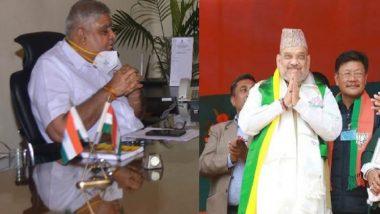 Jagdeep Dhankhar: অমিত শাহের সঙ্গে বৈঠক রাজ্যপাল ধনখড়ের