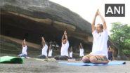 International Yoga Day 2021: গুহায় চলছে যোগাভ্যাস, দেখুন ছবি