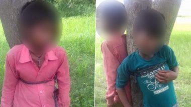 Uttar Pradesh: না বলে জাম পাড়ায় দুই খুদেকে গাছ বেধে মারধর, শিউরে ওঠার ঘটনা