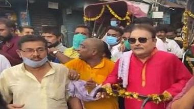 Madan Mitra: পেট্রল, ডিজেলের মূল্যবৃদ্ধির প্রতিবাদে রিক্সা টেনে প্রতিবাদ মদন মিত্রের, দেখুন