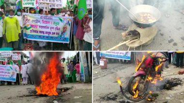 Protest Against Petrol-Diesel Price Hike: পেট্রল, ডিজেল, রান্নার গ্যাসের মূল্যবৃদ্ধিতে রাজ্যজুড়ে প্রতিবাদ মিছিল তৃণমূলের