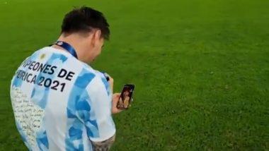 Copa America 2021: কাপ জিতে মাঠ থেকে স্ত্রী আন্তোনেলাকে ফোন মেসির, দেখুন ভাইরাল ভিডিও