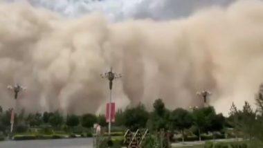 Sandstorm in China: ২৮ তলা বাড়ির সমান ধুলো ঝড়ে ঢেকে গেল চিনের শহর, দুর্ঘটনার ভয়ে লকডাউন শহরে (দেখুন ভিডিও)