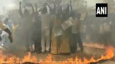 Andhra Pradesh: আগুনের চক্রবূহ্য, রাস্তায় নেমে জ্বালানির মূল্যবৃদ্ধির প্রতিবাদ