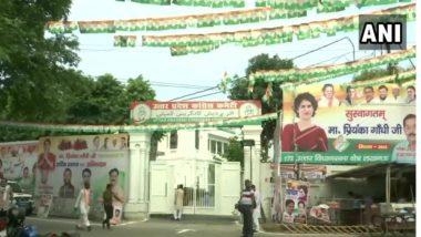 Lucknow: প্রিয়ঙ্কা গান্ধীর আগমনে পোস্টার ব্যানারে সেজেছে লখনউ, (দেখুন ছবি)