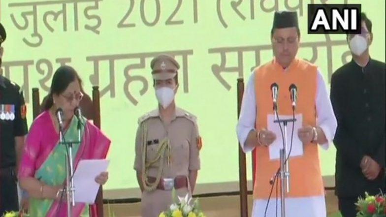 Pushkar Singh Dhami: উত্তরাখণ্ডের ১১তম মুখ্যমন্ত্রী হিসেবে শপথ নিলেন পুষ্কর সিং ধামি, চার মাসে তৃতীয় মুখ্যমন্ত্রী