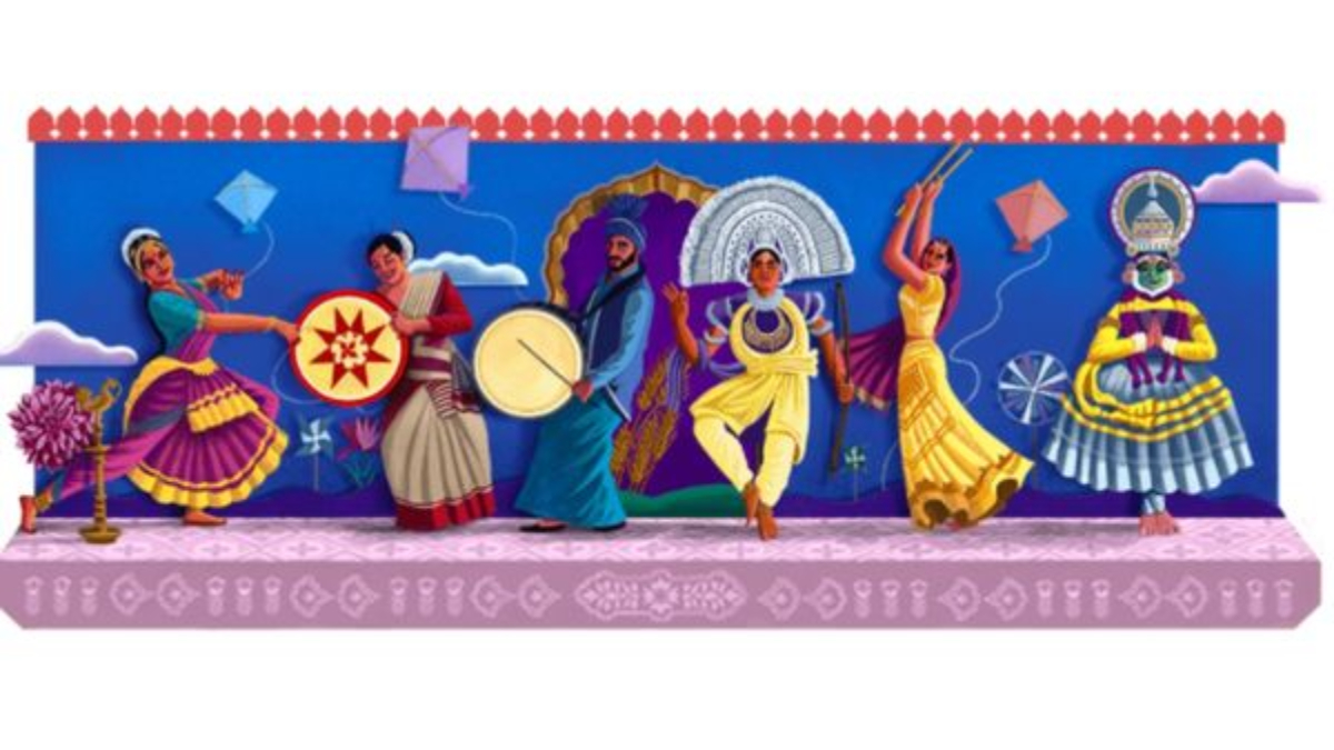 Google Doodle: 'বৈচিত্রের মধ্যে ঐক্য', আকর্ষণীয় ডুডলে ভারতের স্বাধীনতা দিবস উদযাপন গুগলের
