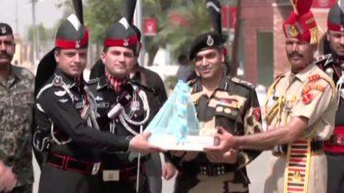 Pakistan Independence Day 2021: পাকিস্তানের স্বাধীনতা দিবস উপলক্ষে ওয়াঘা সীমান্তে মিষ্টি বিনিময় পাকিস্তান রেঞ্জার্স ও বিএসএফ-র