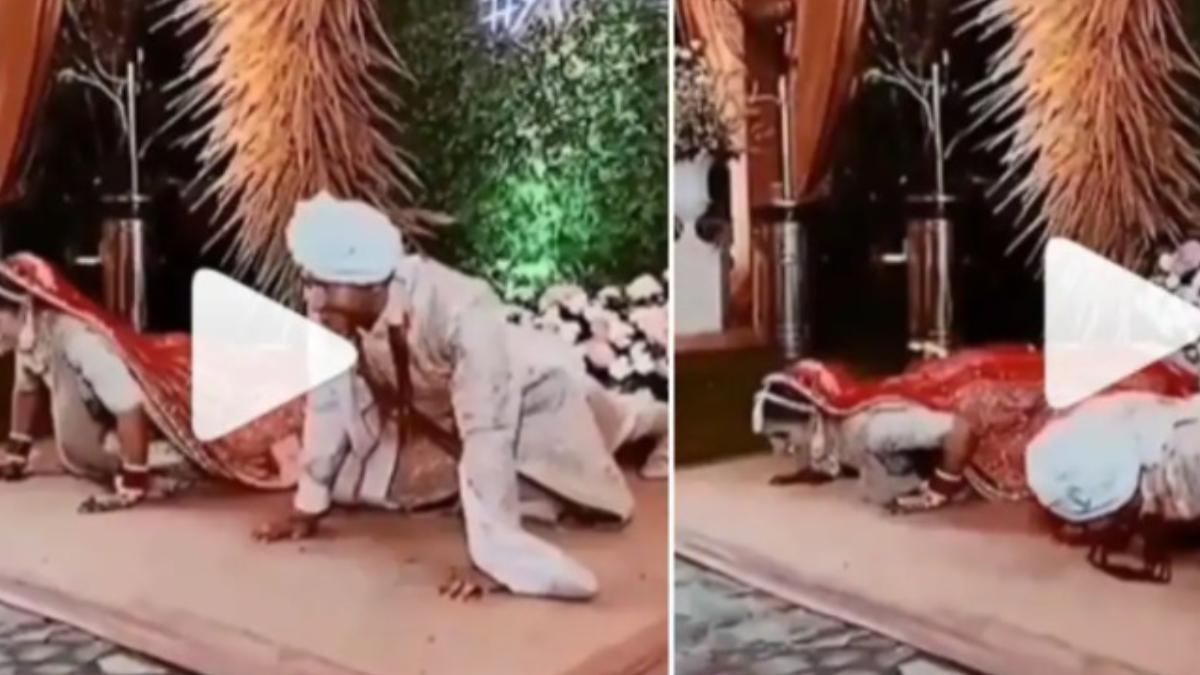 Viral Video: বিয়ের আসরে ফিটনেস সচেতন বর ও কনের পুশ-আপ, ভাইরাল ভিডিয়ো