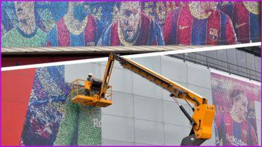 Lionel Messi: বার্সেলোনার মাঠ ন্যু ক্যাম্প থেকে সরানো হল মেসির ছবি (দেখুন ভিডিও)