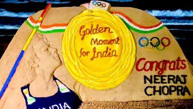 Neeraj Chopra: সোনার ছেলে নীরজ চোপড়াকে পুরীর সোনালি বালুকায় শিল্পীর শুভেচ্ছা