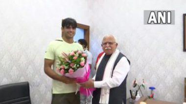 Neeraj Chopra Met Haryana CM ML Khattar: লক্ষ্য ২০২২-এর বিশ্ব চ্যাম্পিয়নশিপে পদক জয়, মনোহর লাল খট্টরকে বললেন নীরজ চোপড়া