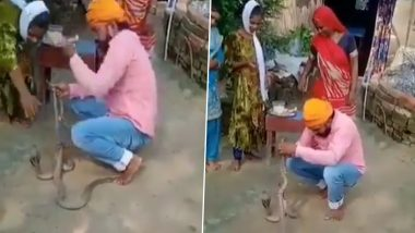 Bihar: সাপকে রাখি বাঁধতে গিয়ে ছোবল খেয়ে মৃত্যু, দেখুন ভিডিও