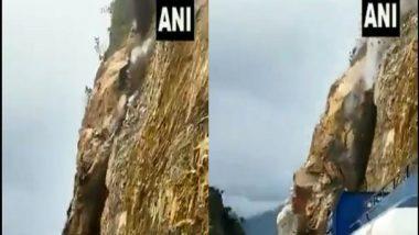 Uttarakhand: ধ্বসের জেরে ভেঙে পড়ছে বোল্ডার, দেখুন উত্তরাখণ্ডের ভয়ঙ্কর ভিডিয়ো