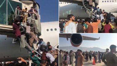 Afghanistan Crisis: শয়ে শয়ে মানুষের বিমানে ওঠার হুড়োহুড়িতে কাবুল বিমানবন্দরে ৫ জনের মৃত্যু