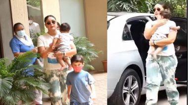 Kareena Kapoor khan: জেহ-কে আনলেন প্রকাশ্যে, ২ সন্তানকে নিয়ে ভাইরাল করিনার ভিডিয়ো