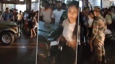 Viral Video: মাঝ রাস্তায় সেনার গাড়ি আটকে ভাঙচুর মত্ত তরুণীর, ভাইরাল ভিডিয়ো