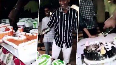 Cake Cutting With iPhone: আইফোন দিয়ে জন্মদিনের কেক কাটল বিজেপি বিধায়কের ছেলে, ভাইরাল ভিডিয়ো