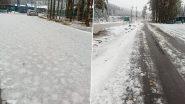 Snowfall In Jammu And Kashmir: মরসুমের প্রথম তুষারপাত ভূস্বর্গ কাশ্মীরে, দেখুন ছবি