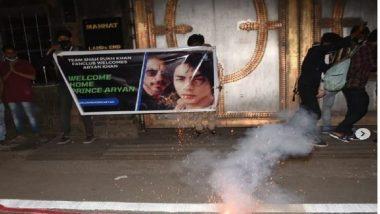 Aryan Khan Drug Case: আরিয়ানের মুক্তির আনন্দে মন্নতের সামনে জড়ো শাহরুখ ভক্তরা