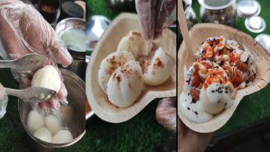 Rasgulla Chaat: রসগোল্লার সঙ্গে দই, লাল চাটনি মিশিয়ে চাট, ভিডিয়ো দেখে নেট পাড়ায় হুল্লোড়