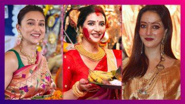 Durga Puja 2021: পুজোয় ঝলমলে টলিউড তারকারা